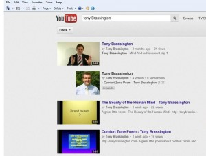 Tony Brassington You Tube