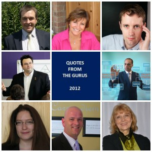 quotes from the gurus 2012